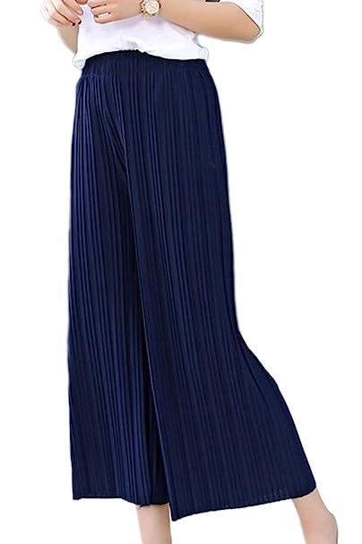 Palazzo Mujer Elegante Verano Pantalones Mujer qSpVzUM