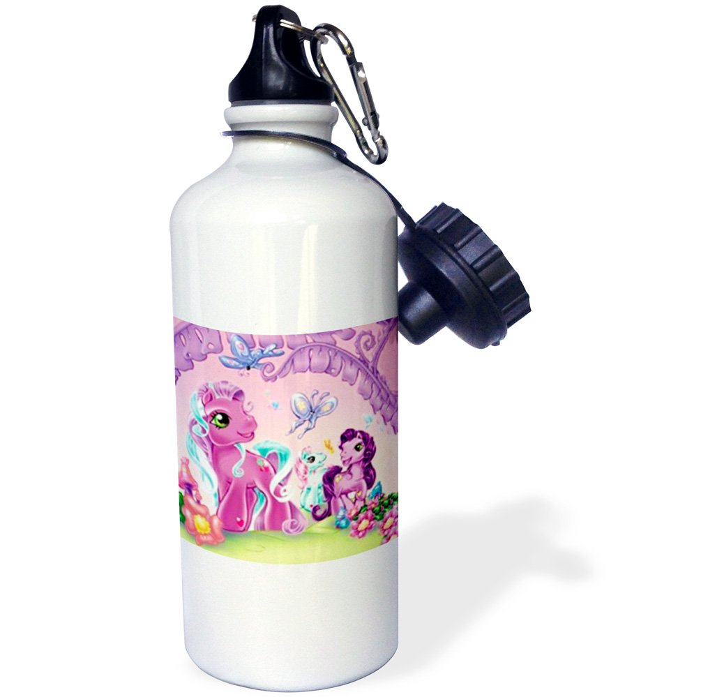 21 oz 3dRose wb/_1061/_1 Guinea Pig Sports Water Bottle White