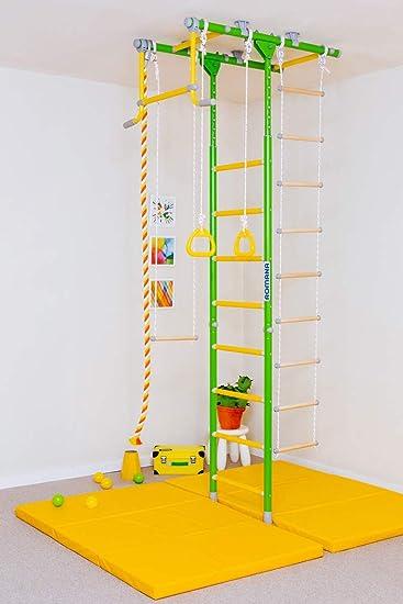 Comet-1: Kids Interior Gimnasio en casa Sueca + Pared Escalera de Cuerda + Anillos + Trapecio: Amazon.es: Electrónica