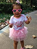 Smilsheep 1st Birthday baby girl summer clothes elegantes Outfit Skirt Headband Suit pink crown 7-12Months/26-31/16.3-24.5 lb