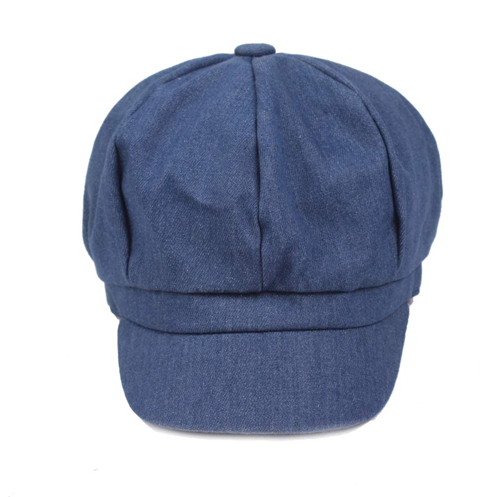 Opromo Women's Washed Denim Newsboy Gatsby Cabbie Hat Jean Berets Octagonal Cap-Denim Blue-48PCS by Opromo (Image #2)