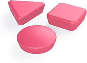 GlasMag Geometric Magnets Hold 20 Papers on Glassboards and 35 on Whiteboards. (Pink)