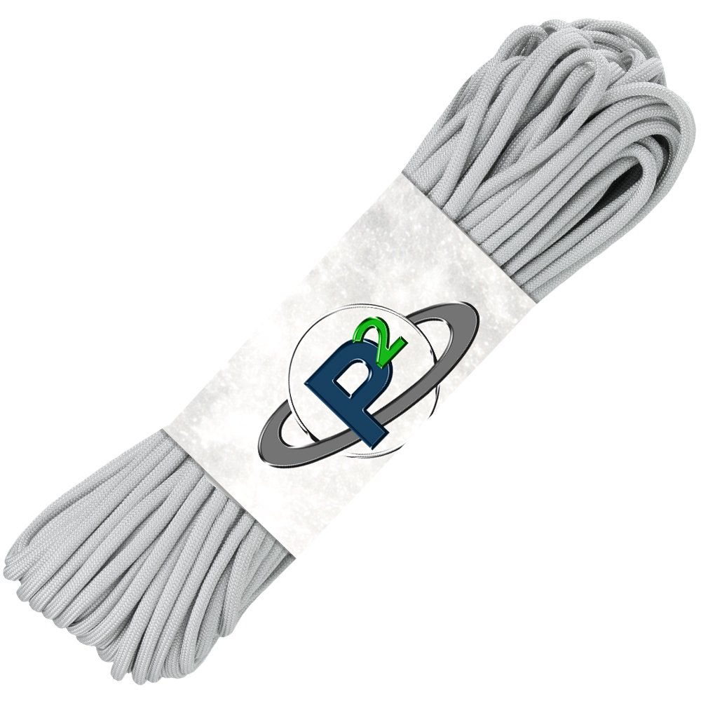 PARACORD PLANET Mil-Spec Commercial Grade 550lb Type III Nylon Paracord (Gray, 10 feet) by PARACORD PLANET