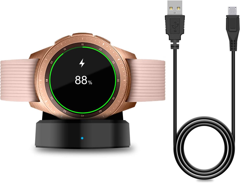 Cargador para Samsung Galaxy Watch 42 mm/46 mm, base de carga actualizada para Samsung Galaxy Watch SM-R800/R810/R815 Smart Watch Charger: Amazon.es: Electrónica