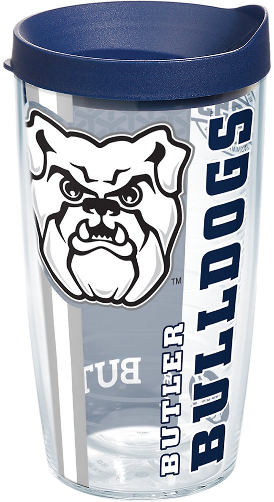Tervis 1229508 Butler Bulldogs College Pride Tumbler with Wrap and Navy Lid 16oz Clear