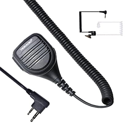 Ham Microphone PTT Mic Walkie Talkie Speaker Mic 2Pin Compatible for on