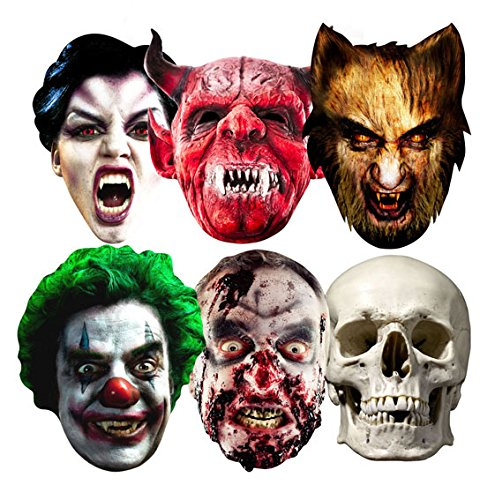 Star Cutouts SMP69 Halloween Party Masks 6 Pack