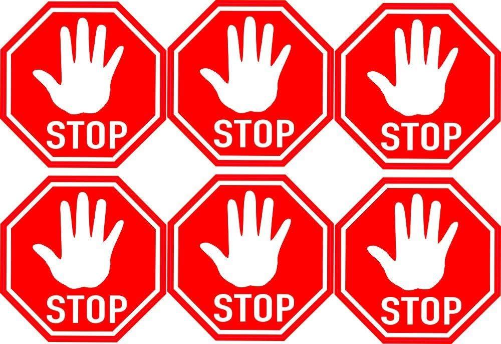 5cm 6stück Aufkleber Folie Modellbau Miniatur Stop Zeichen Kein Durchgang S290 Maßstaab Vinyl Sticker Profi Qualität Auto