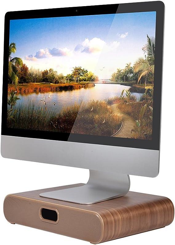 Computer Monitor Riser Stand Laptop Desk Tray Storage Drawer Desktop Organizer