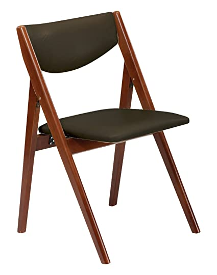 Stakmore Comfort Folding Chair Finish, Set Of 2, Fruitwood
