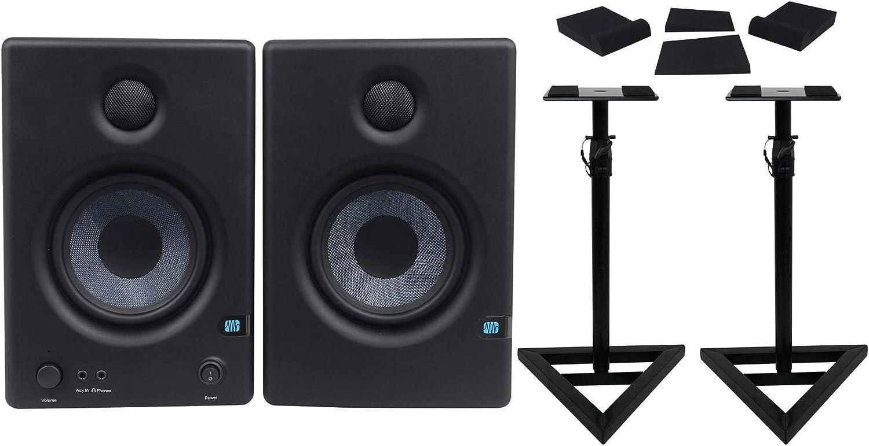 2 Rockville Adjustable Studio Monitor Speaker Stands For Presonus Eris E4.5