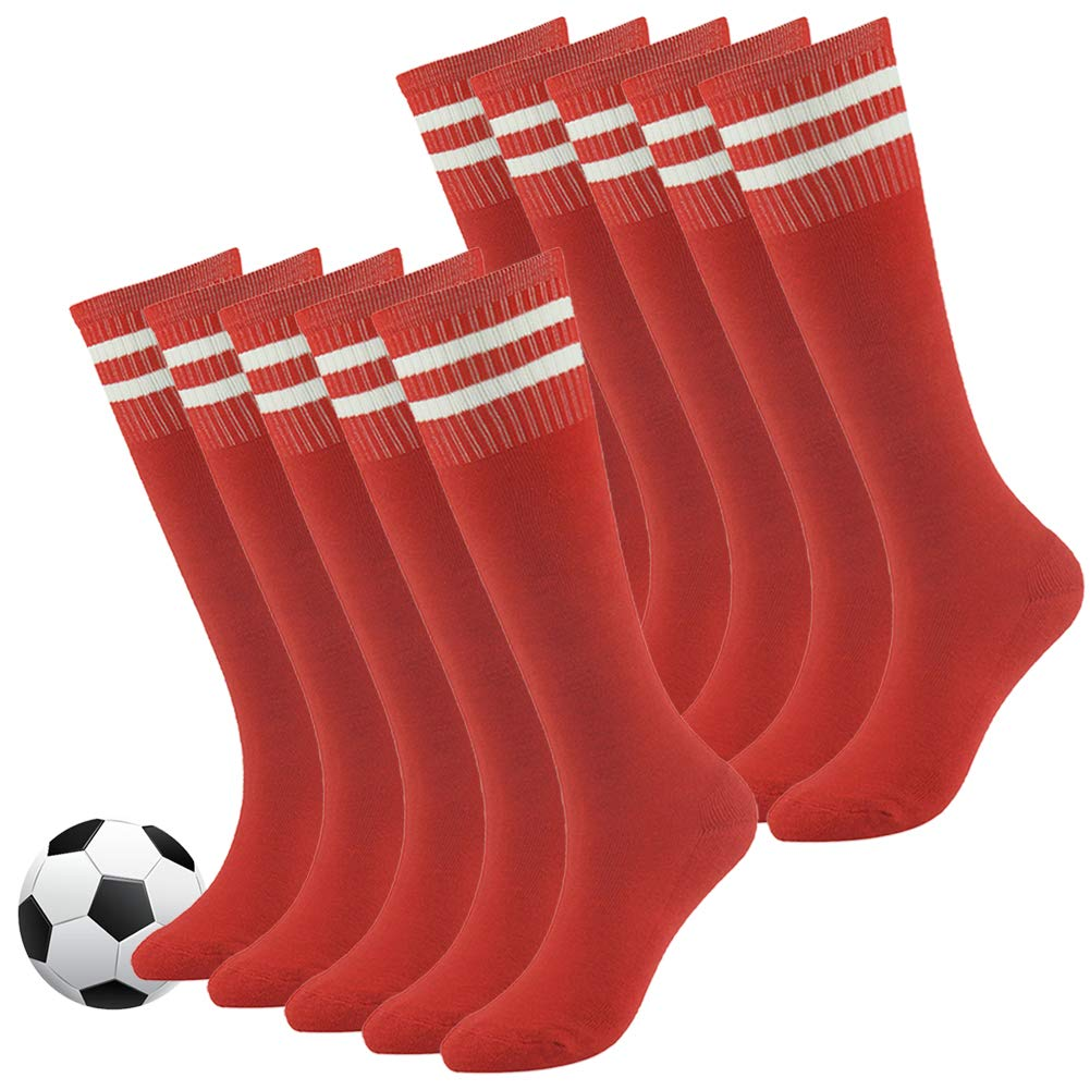 Knee High Tube Socks,Boys and Girls Soft Cotton Moisture-wicking Cushion Soccer Sports Socks by Fasoar