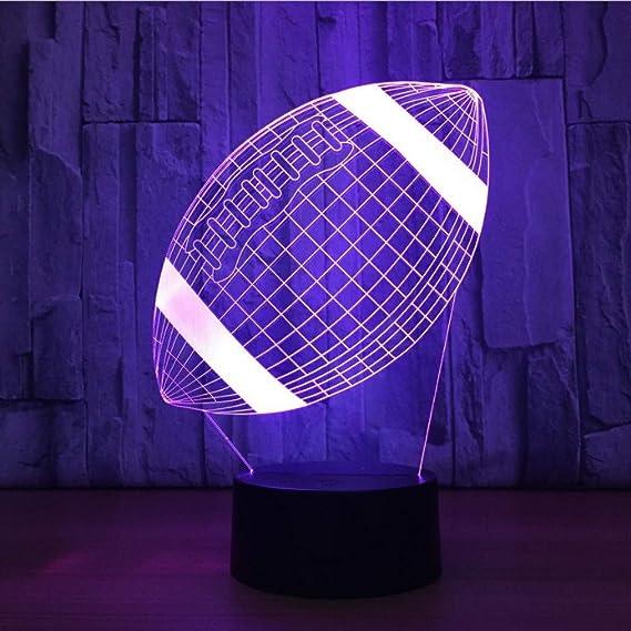 American Football - Lámpara LED de noche (acrílico, diseño de ...