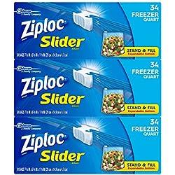 Ziploc Quart Slider Freezer Bags, 102 Count