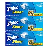 quart freezer bags slider - Ziploc Slider Freezer bags, Quart, 3 Pack, 34 ct