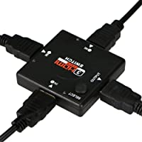 Rts 1080P 3 Port HDMI Auto Switch Splitter Switcher HUB Box Cable LCD HDTV