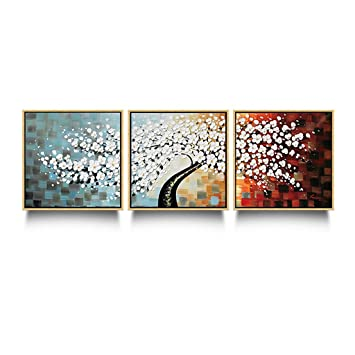 Wandbilder Wohnzimmer Sofa Hintergrund Wand Moderne Minimalistische  Dreifache Wandbilder Veranda Malerei Schlafzimmer Restaurant Gemälde  Frieden Pachinko