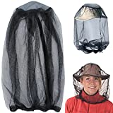 Mosquito Head Net, Mesh Protective Cover Mask Face Anti-mosquito Bee Bug Insect Fly Mask Hat for Beekeeping Beekeeper Outdoor Fishing, IHUIXINHE Insect Repellent Netting