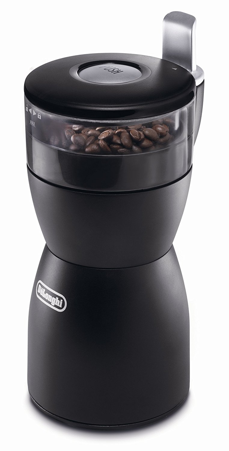 DeLonghi KG40 Electric Coffee-Bean Grinder with Stainless-Steel Blade (Certified Refurbished)
