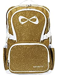 Nfinity Gold Sparkle Backpack (White Logo)