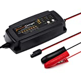 Battery Charger, Selectable 2A 4A 8A Automotive Battery Charger, 12V Trickle Battery Charger, Automatic Smart Battery Maintainer and Tender for 12V Motorcycle Car Truck by Dr.Auto