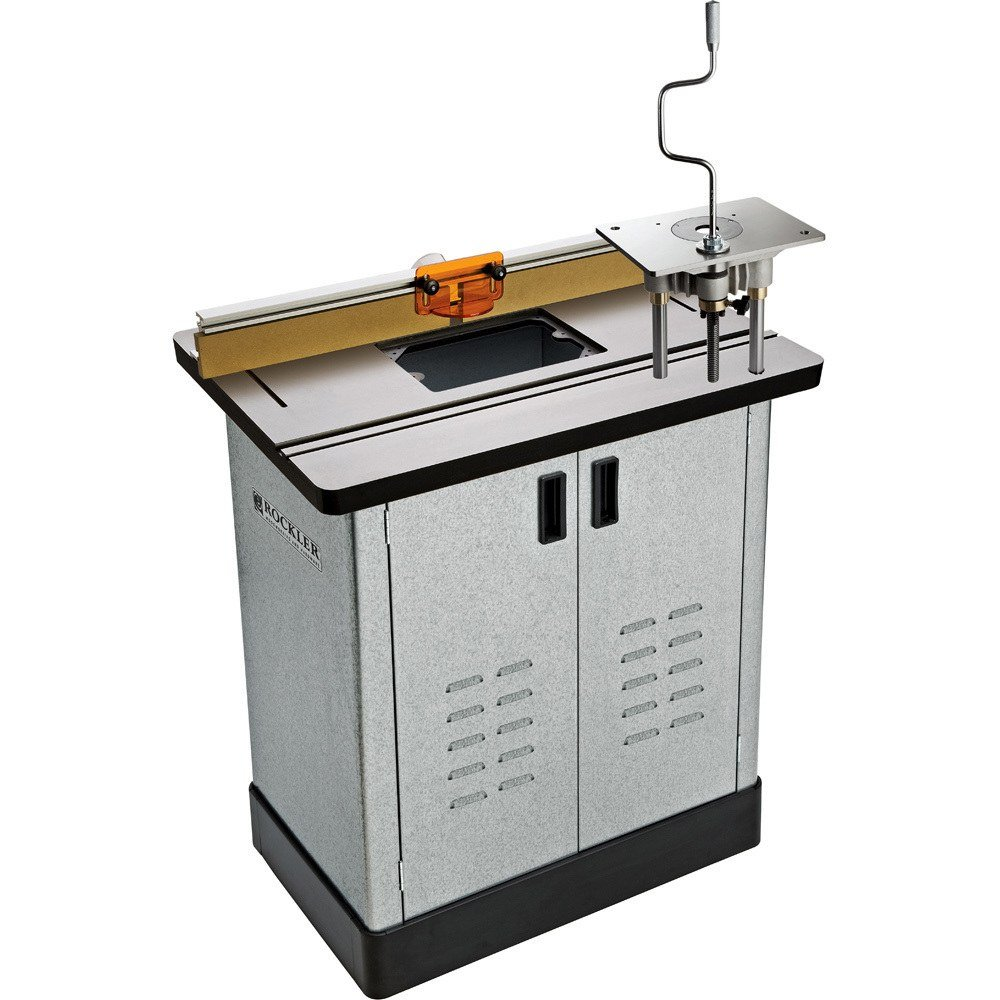 Bench Dog Cast Iron Router Table, Pro Router Lift, Pro Fence, & Steel Cabinet