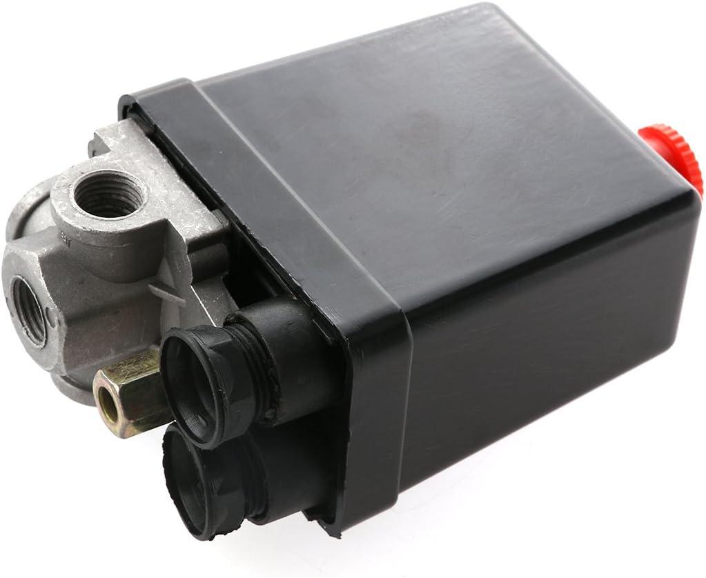 Winomo Luft Kompressor Druckschalter Kontrollventil 240 V Ac 20 A 175 Psi