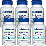 Life Extension Optimized Folate (L-Methylfolate), 1000 mcg 100 vegetarian tablets Discount 6-Pak by Life Extension