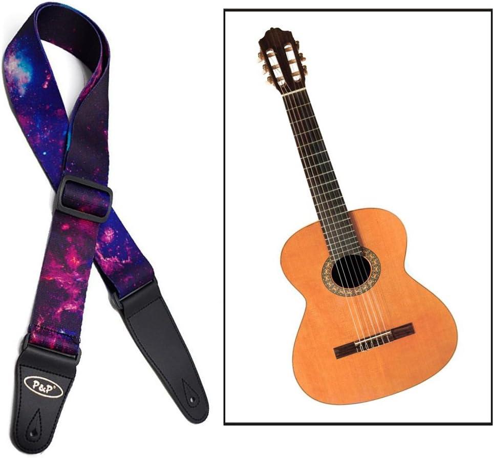 Itian Correa de la Guitarra - Correa Grande de Algodón para ...