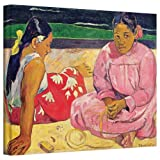 Paul Gauguin 'Women of Tahiti, on the Beach' gallery-wrapped canvas A high quality print reproduction of an oil on canvas. This painting is a depiction of two women trying to find solace in the sands of a beach. A soulful and moving addition to any s...