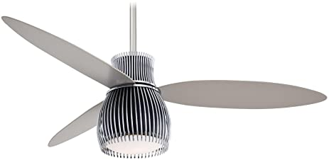 "Minka Aire F824 BK CH Uchiwa 56"" Ceiling Fan with Light Black"