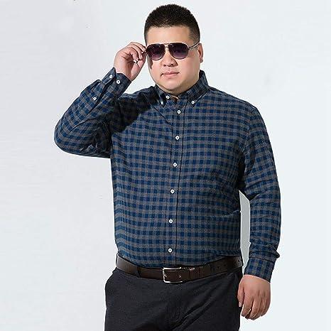 WYTX Camisas Camisa De Algodón A Cuadros De Manga Larga Gruesa De Otoño E Invierno, Camisa De Algodón para Hombre Más Camisa De Hombre Suelta XL Gruesa: Amazon.es: Deportes y aire libre
