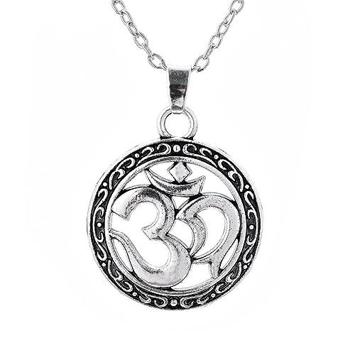 Amazon com: Lemegeton Hinduism Symbol Aum OM Ohm Round