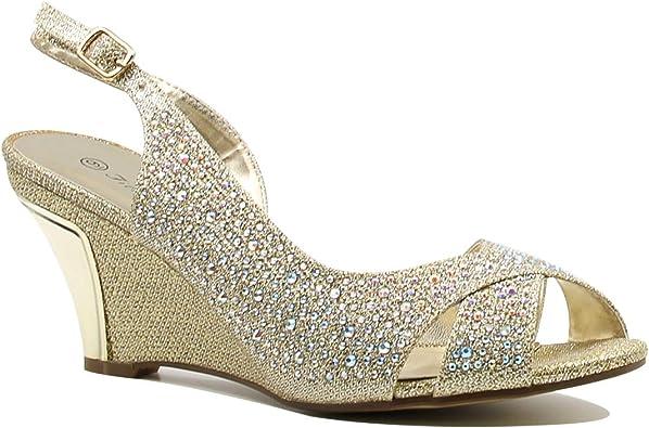 wedge glitter sandals