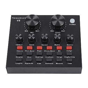 Tarjeta de Sonido Externa, Mezclador de Audio Externo USB ...