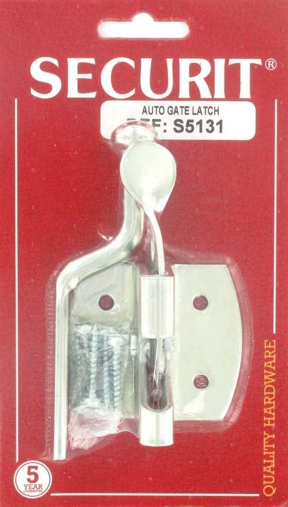 GALVANISED AUTOMATIC AUTO GATE LATCH LOCK SILVER Securit