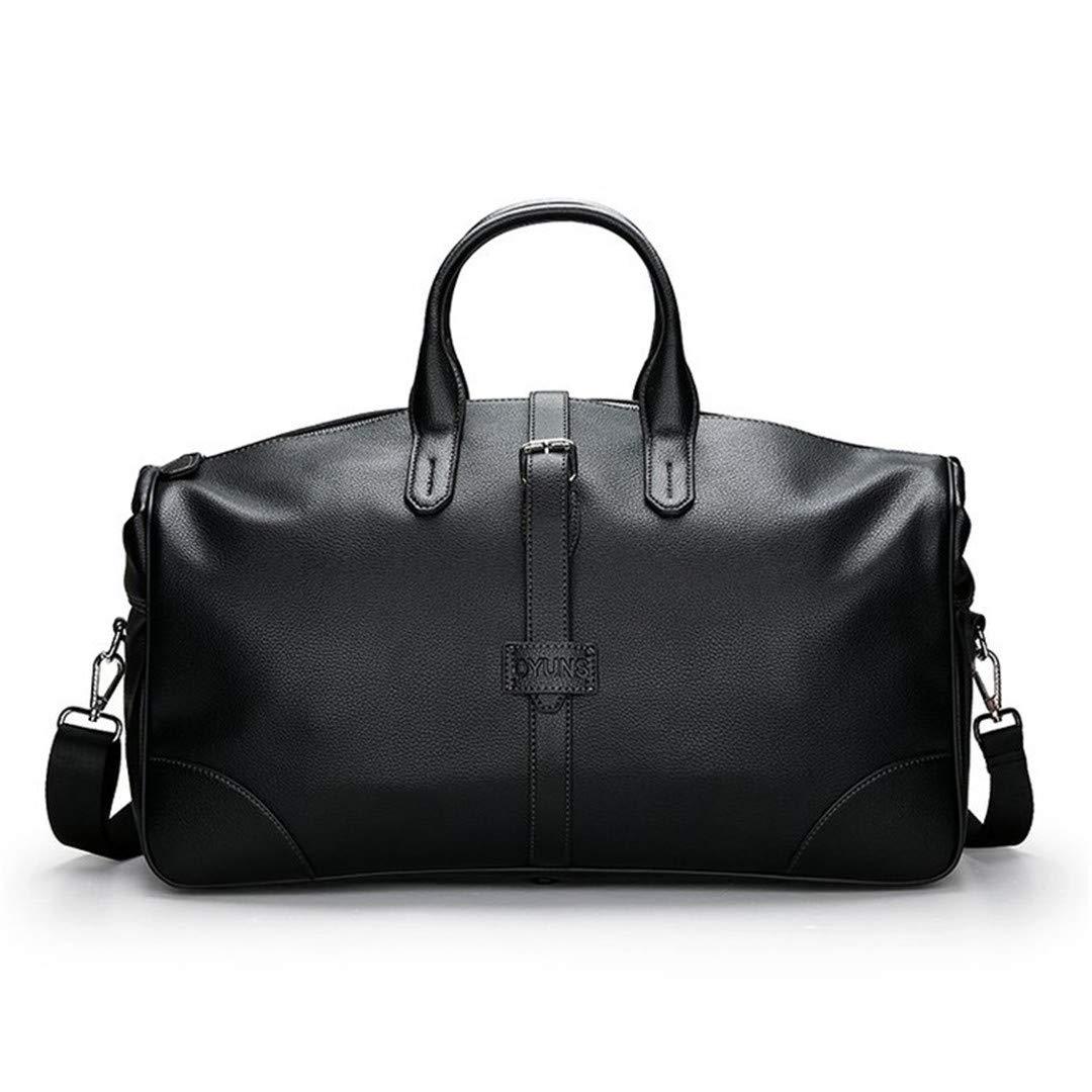 Men Classic Business Trip Travel Bag Portable H Travel Street Journey Big H bag Large Capacity Luggage Black