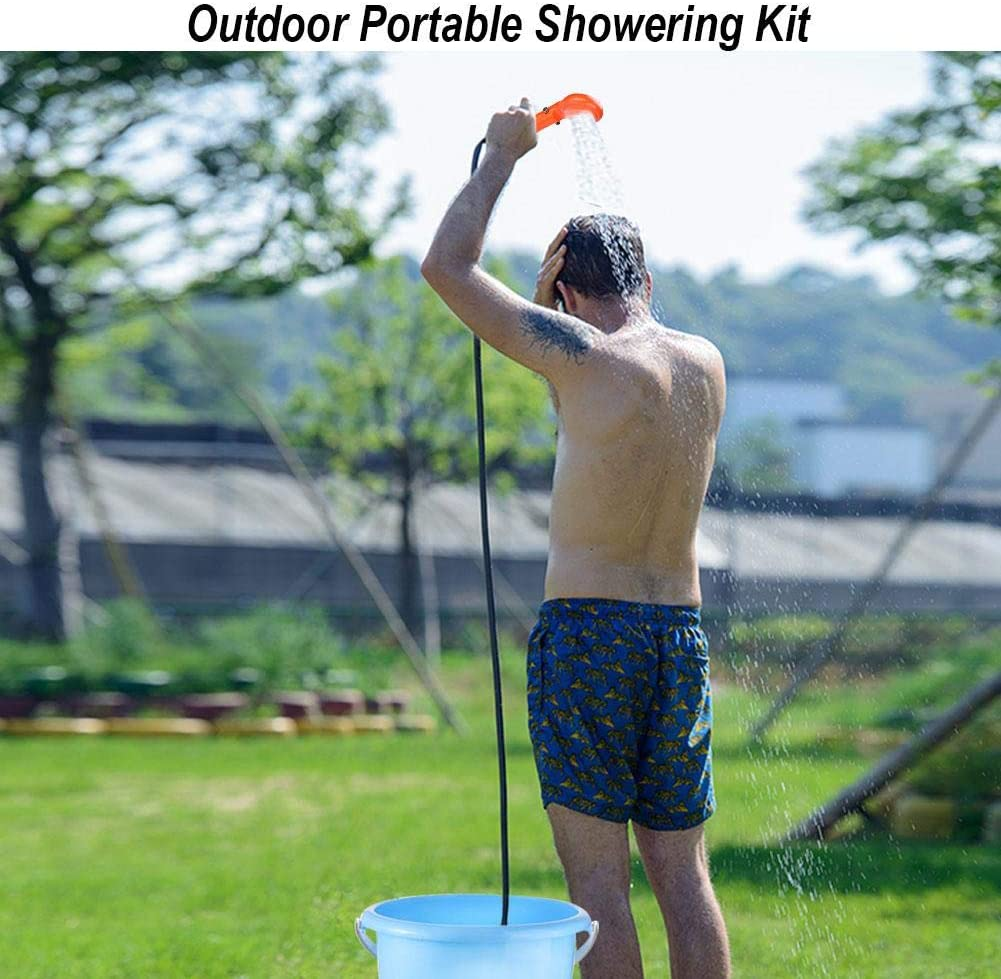 Ejoyous Portable Outdoor Shower Camping Shower 12V Car Plug Vehicle-Mounted Shower Pump Camp Shower Handheld Camping Showerhead Kit Set for Family Camp Hiking Backpacking Travel