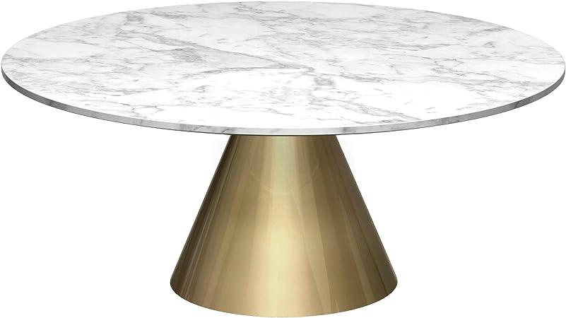 Gillmore Space Petite Table Basse Ronde En Marbre Avec Socle En