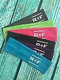 12 RF R+F Cotton Headbands Assorted Colors - Stretch Elastic Yoga Fashion Headband Rodan Fields inspired Teens Women Girls Head Band Set