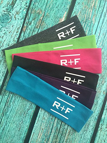 12 RF R+F Cotton Headbands Assorted Colors - Stretch Elastic Yoga Fashion Headband Rodan Fields inspired Teens Women Girls Head Band Set