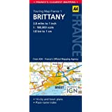 AA Road Map Brittany (AA Touring Map France 01) (Road Map France)