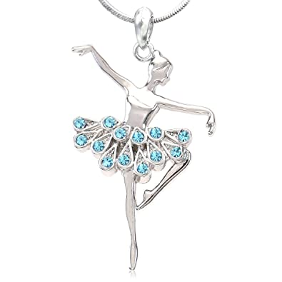 Amazon soulbreezecollection dancing ballerina dancer ballet soulbreezecollection dancing ballerina dancer ballet dance pendant necklace charm aqua mozeypictures Image collections
