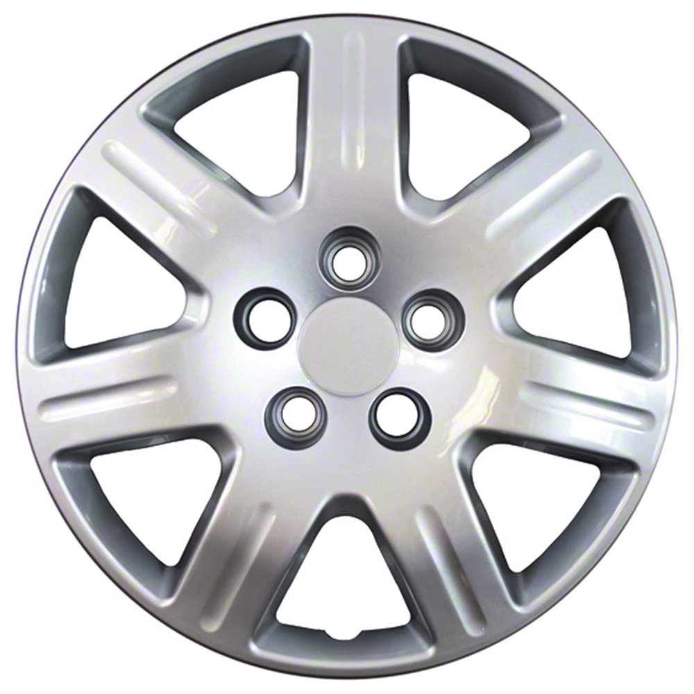 16 inch Hubcaps Best for 2006-2013 Honda Civic - (Set of 4) Wheel Covers 16in Hub Caps Silver Rim Cover - Car Accessories for 16 inch Wheels - Snap On Hubcap, Auto Tire Replacement Exterior Cap) by OxGord (Image #1)