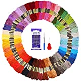 Embroidery Floss 48 Colors 144 Skeins Fuyit Cross Stitch Threads for Friendship Bracelets Floss Crafts Floss with Free Needle Threader Untwist Tool (48 Color)