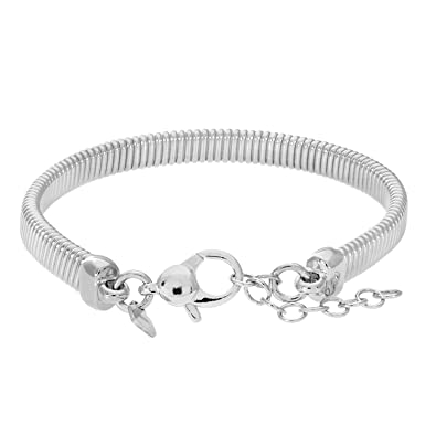Citerna Plated Silver 'T' Ended Cuff Bangle teCfiX