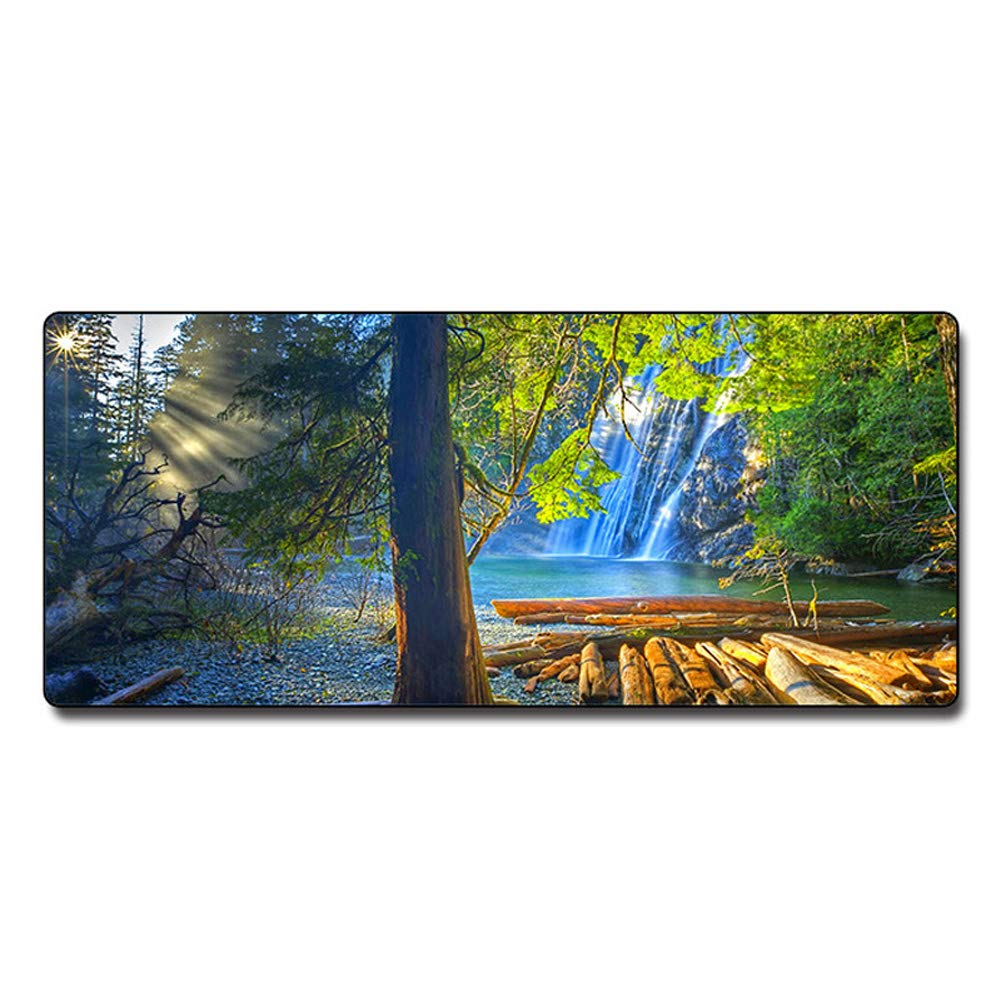HHRONG Large Non-Slip Game Table mat, Anti-wear Stitching Frame, Suitable for Daily Work and Gamers 70x30x0.3 (cm)-A by HHRONG