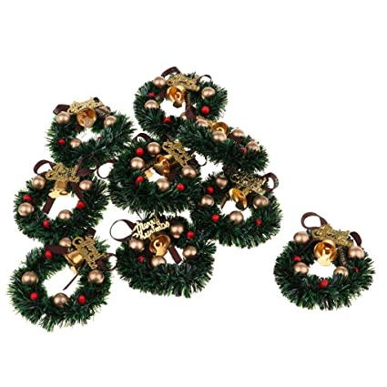 Amazon Com Prettyia 1 12 Dolls House Miniature Xmas Wreath