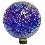 Echo Valley 8760 10'' Translucent Blue Embossed Gazing Globe