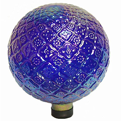 Echo Valley 8760 10'' Translucent Blue Embossed Gazing Globe by Echo Valley